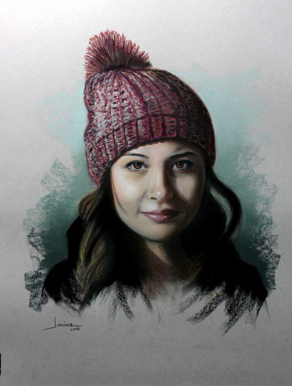 Retrato Alejandra 50 x 65 cm