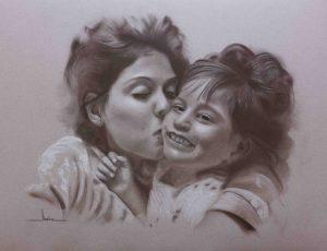 Retrato Tía y sobrina